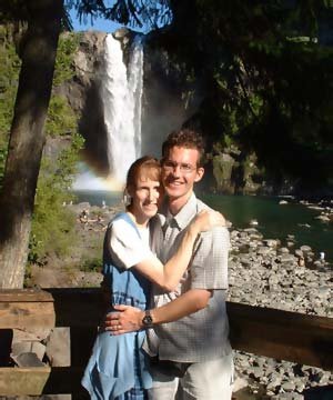 Mark and Kim at Snoqualmie Falls, WA