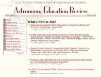 Astronomy Education review home page