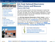 Kitt Peak Visitor Center and Museum home page