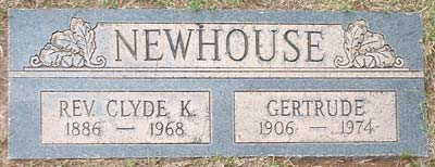 Newhouse Grave Marker