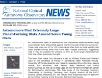 NOAO Current News home page