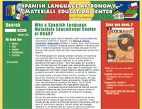 Spanish Language Astronomy Materials Education Center home page
