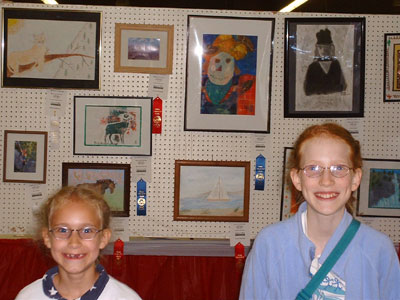 Moriah and I with our entries from last year (2004)